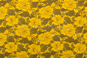 Stretch Sequins Lace (Yellow)