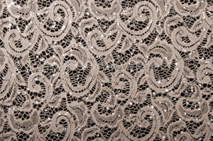 Stretch Sequins Lace (Dusty Mink/Silver)
