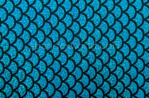 Fish scale Hologram (Black/Tuequoise)