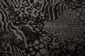 Circular Knit Cheetah Print foil (Black/Matte Black)