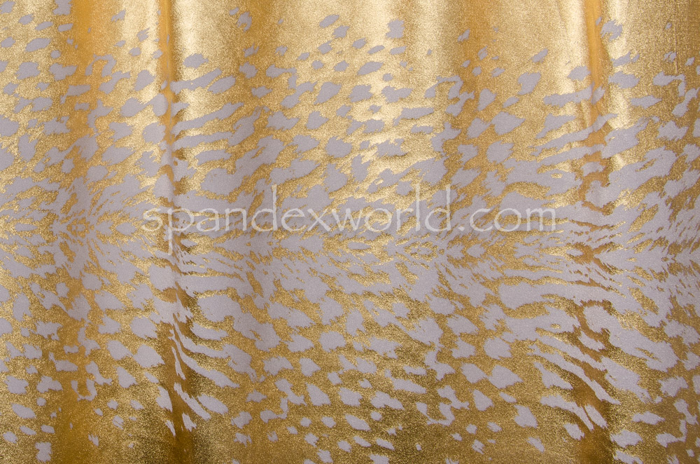 Animal Print Hologram (White/Gold)