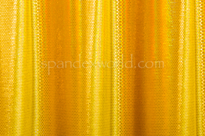 Stretch Velvet Dots (Yellow/Yellow Holo)