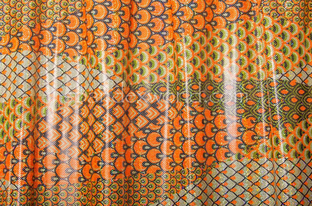 Pattern Abstract Hologram  (Orange/Lt. Mint/Multi)