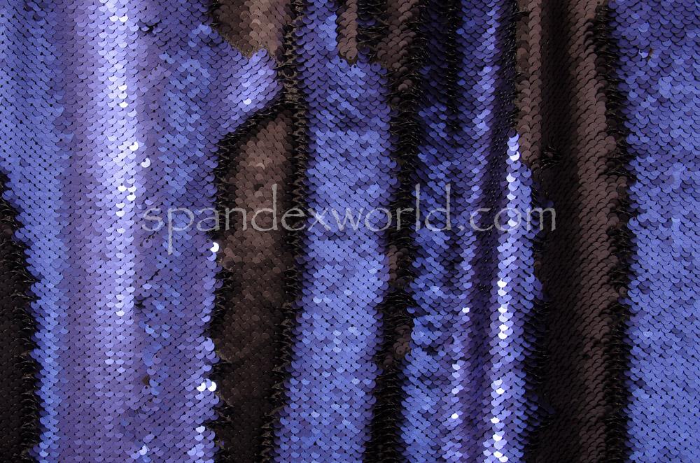 Reversible Sequins  (Black/Royal)