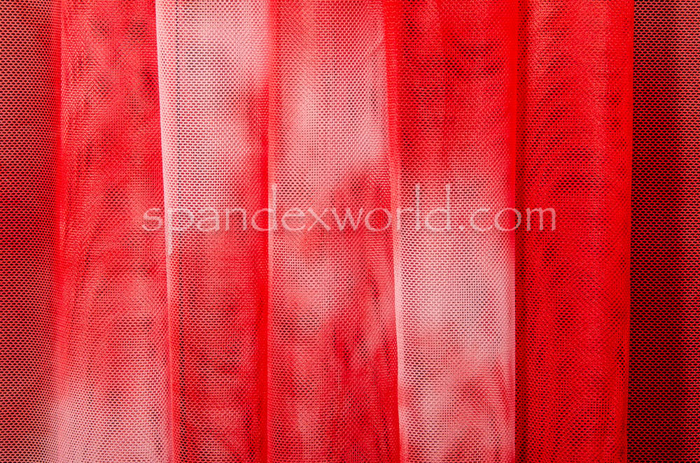 Tie Dye Mesh (Red/White)