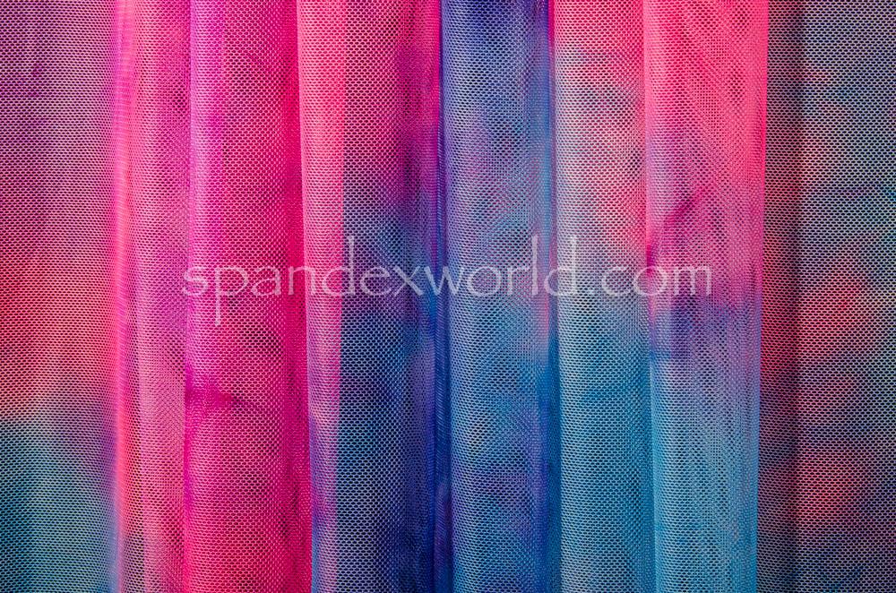 Tie Dye Mesh (Purple/Blue/Multi)