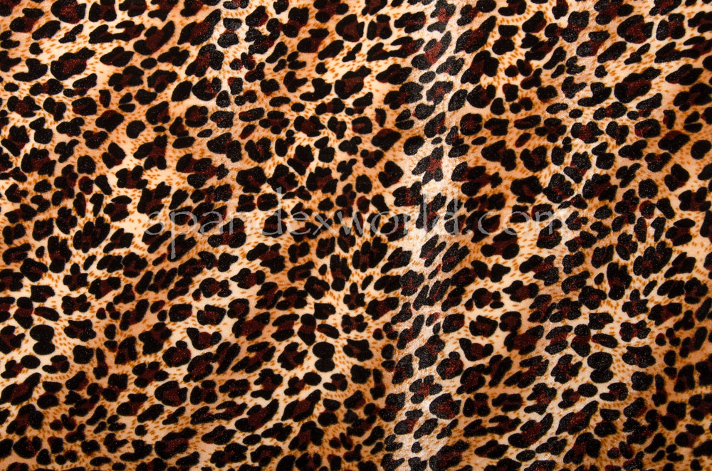 Animal Print Stretch velvet (Black/Brown/Beige)