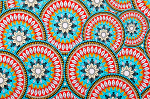 Floral Print (Turquoise/Red/Multi)