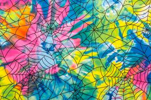 Tie dye Spider  Prints (Blue/Neon Yellow/Multi)