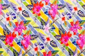 Floral Print (Blue/Fuchsia/Multi)