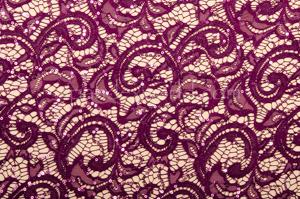 Stretch Sequins Lace (Plum)