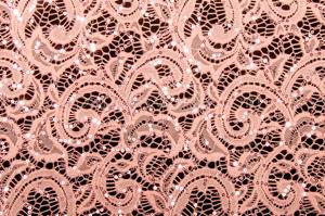 Stretch Sequins Lace (Spy Blush)