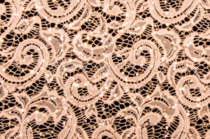 Stretch Sequins Lace (Champagne)