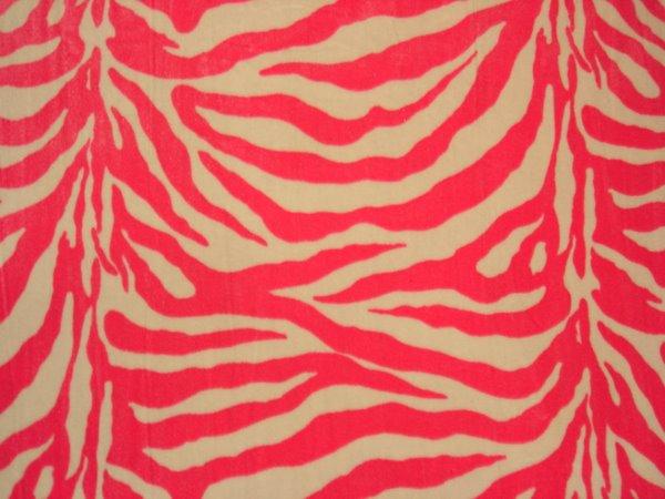 Animal Print Stretch Velvet (Hot pink/white)