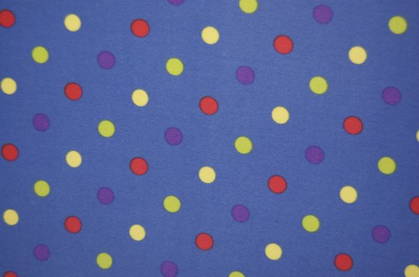 Printed Polka Dots (Blue/Multi)