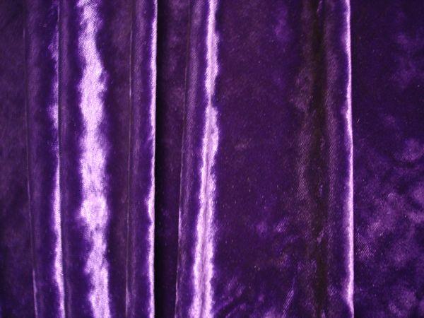 Stretch Crushed Velvet (purple)
