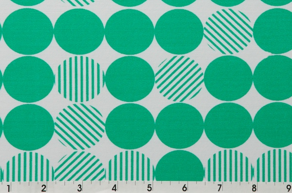Printed Polka Dots (Green, White)