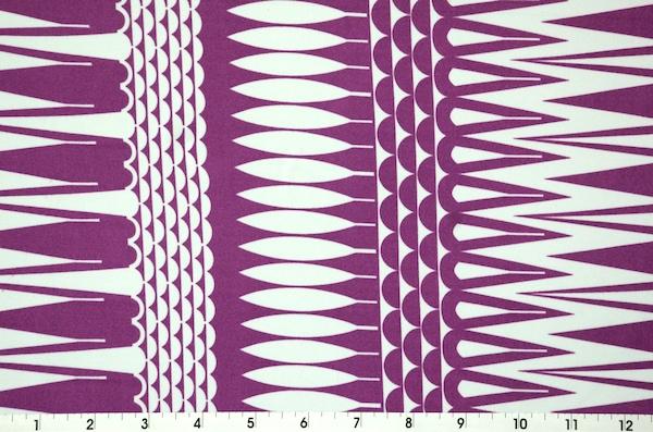 Printed Spandex (Lt. Purple/White)