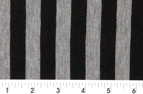 Printed Stripes (Black/Gray)