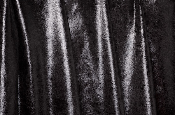 Metallic Stretch Velvet (Black)
