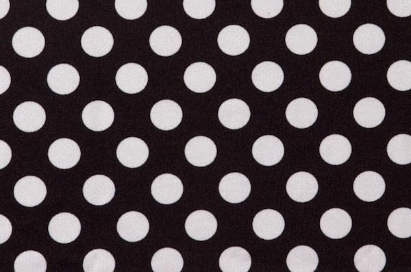Printed polka dots-Matte (Black/White)