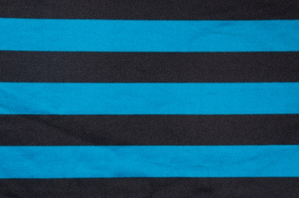 Printed Satin Stripes (Black/Turquoise)