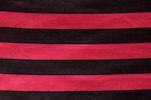 Printed Satin Stripes (Black/Fuchsia)