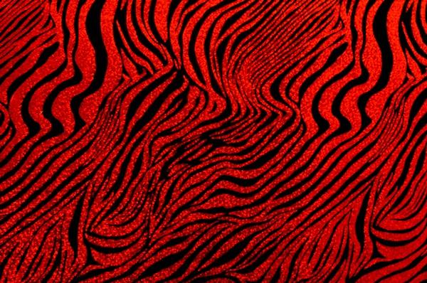 Animal Print Hologram (Black/Red)