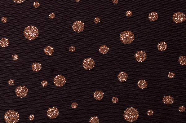 Glitter/Pattern Mesh (Black/Copper)