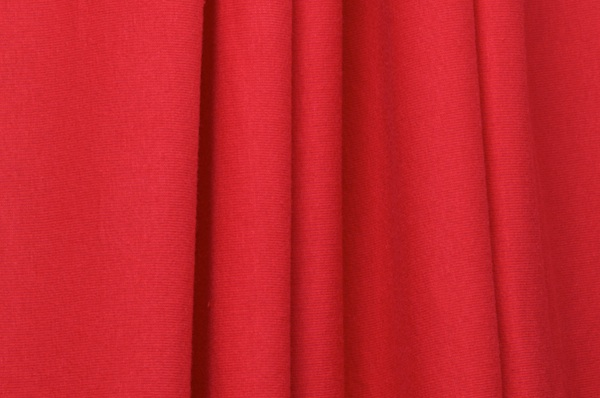 Cotton Lycra® (Red)   (Medium weight)