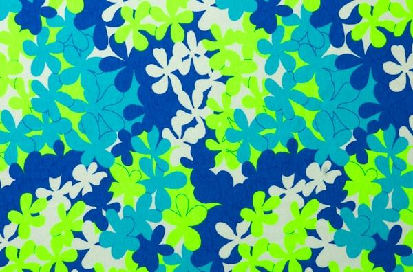 Printed Cotton Lycra® (Blue/Lime/Multi)