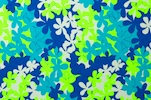 Printed Cotton Lycra® (Blue/Lime/Multi)