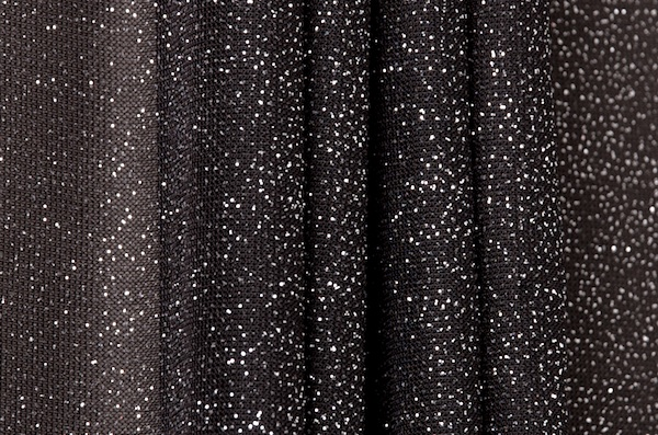 Sheer Glitter/Pattern (Black/Silver)