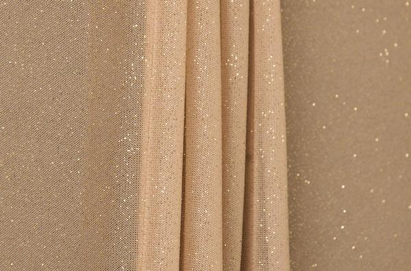Sheer Glitter/Pattern  (Nude/Gold)