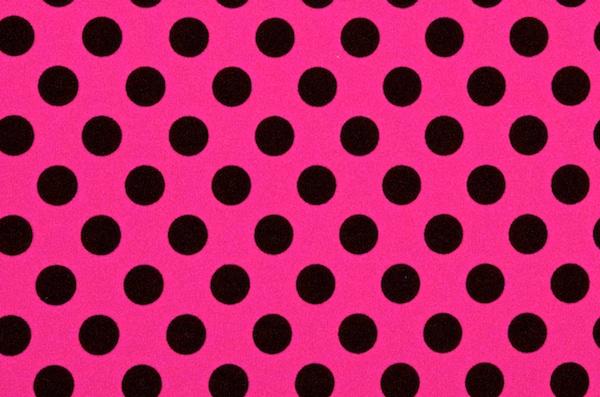 Printed Polka Dots (Hot Pink/Black)