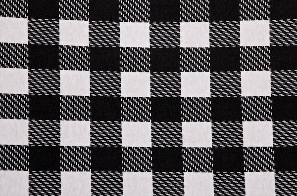 Printed Cotton Lycra® (Black/White)