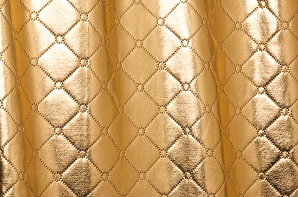 Metallic Pattern Spandex (Gold)
