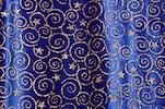 Glitter/Pattern Velvet (Royal/Gold)