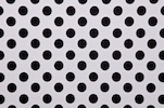 Printed Polka Dots (White/Black)