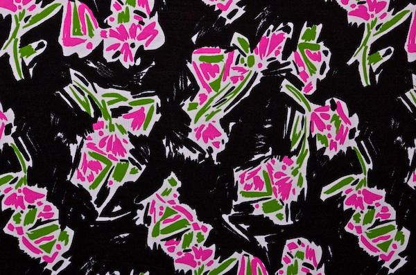 Printed Spandex (Black/Green/Pink)