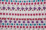 Printed Cotton Lycra® (White/Purple/Teal/Multi)