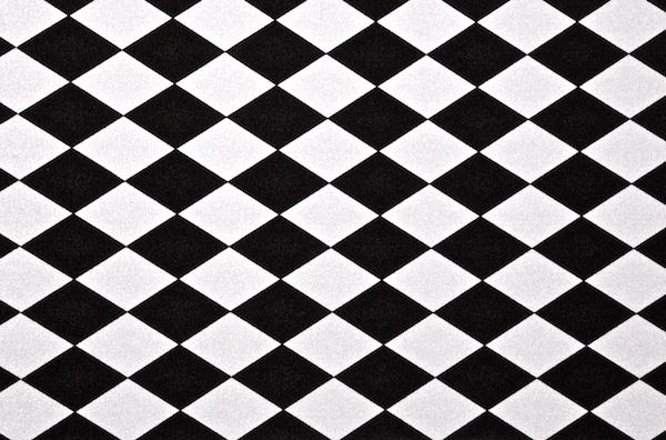 Diamond prints - shiny (Black/White)