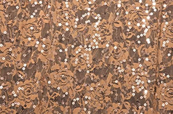 Stretch Sequins Lace (Nude/Rose)