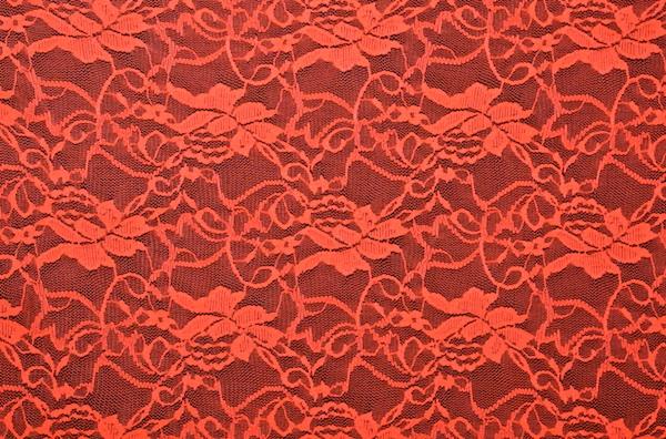 Stretch Lace (Bright Orange)