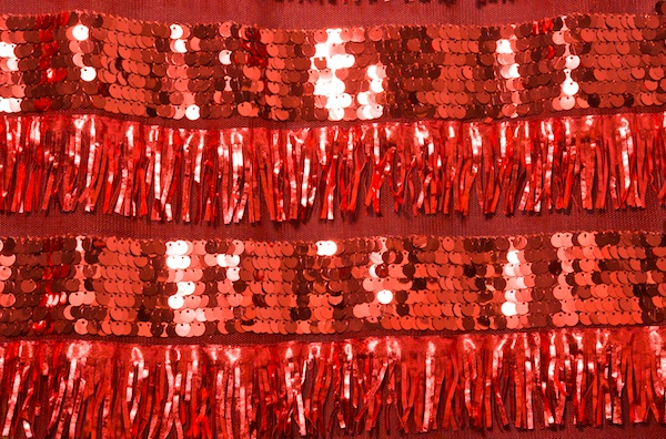 Non-Stretch Sequins (Red/Red)