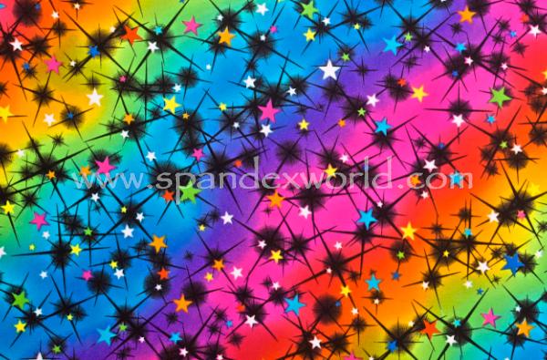Abstract Print Spandex (Black/Neon Multi)