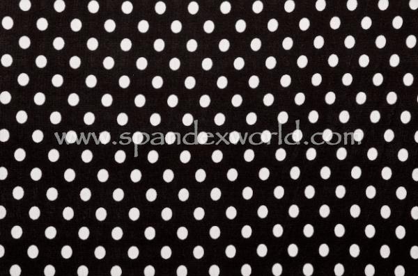 Printed Polka Dots (Black/White)