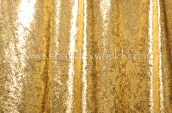 Metallic Stretch Velvet (Gold)