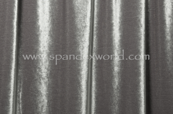 2 Way Stretch Solid Velvet (Gray)