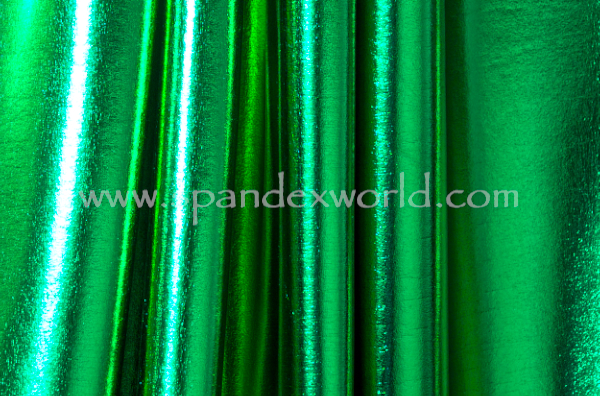 4 Way Metallic Spandex-shiny (Black/Kelly Green)